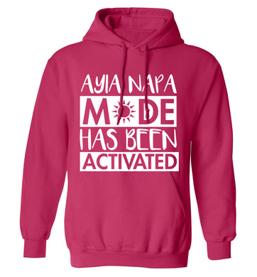 Ayia Napa mode has been activated adults unisex pink hoodie 2XL