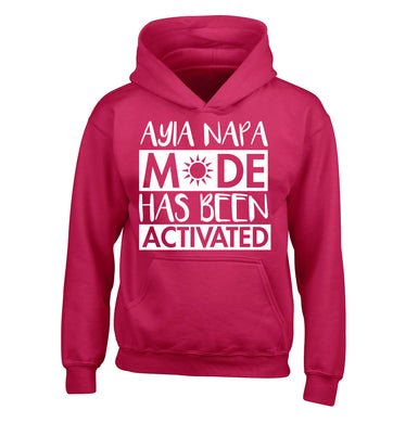 Ayia Napa mode has been activated children's pink hoodie 12-13 Years