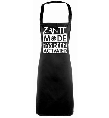 Zante mode has been activated black apron