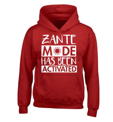 Zante mode has been activated children's red hoodie 12-13 Years