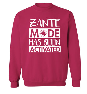 Zante mode has been activated Adult's unisex pink Sweater 2XL