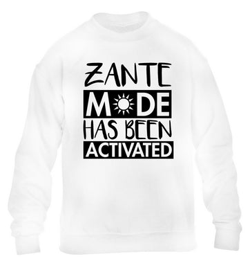 Zante mode has been activated children's white sweater 12-13 Years