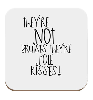 They're not bruises they're pole kisses set of four coasters