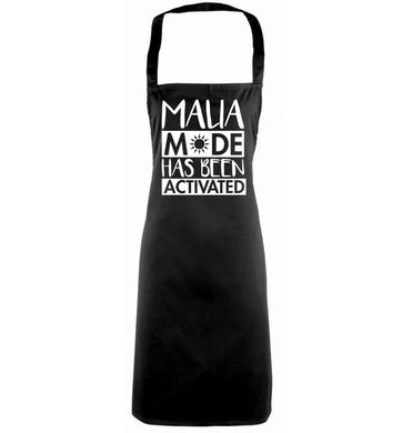 Malia mode has been activated black apron