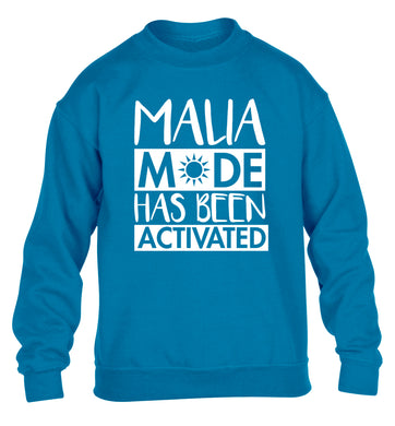 Malia mode has been activated children's blue sweater 12-13 Years