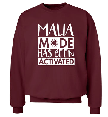 Malia mode has been activated Adult's unisex maroon Sweater 2XL