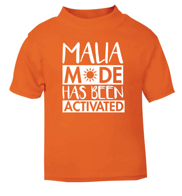 Malia mode has been activated orange Baby Toddler Tshirt 2 Years