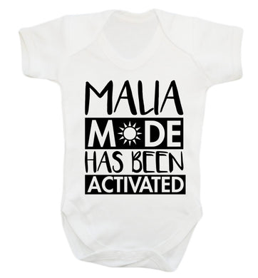 Malia mode has been activated Baby Vest white 18-24 months