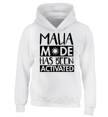 Malia mode has been activated children's white hoodie 12-13 Years