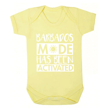 Barbados mode has been activated Baby Vest pale yellow 18-24 months