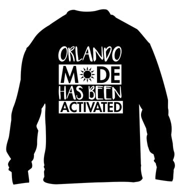 Orlando mode has been activated children's black sweater 12-13 Years
