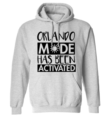 Orlando mode has been activated adults unisex grey hoodie 2XL