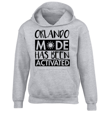 Orlando mode has been activated children's grey hoodie 12-13 Years