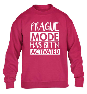 Prague mode has been activated children's pink sweater 12-13 Years