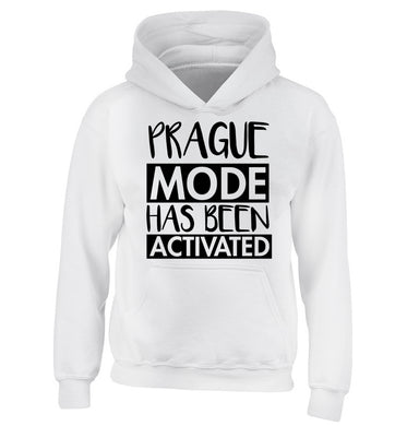 Prague mode has been activated children's white hoodie 12-13 Years