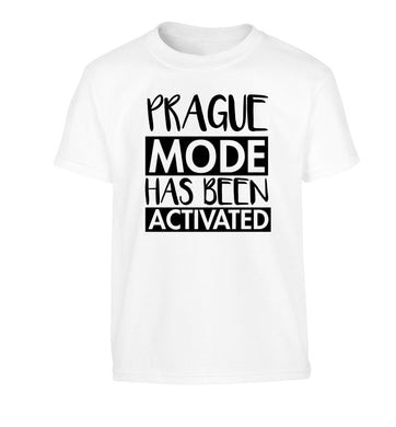 Prague mode has been activated Children's white Tshirt 12-13 Years