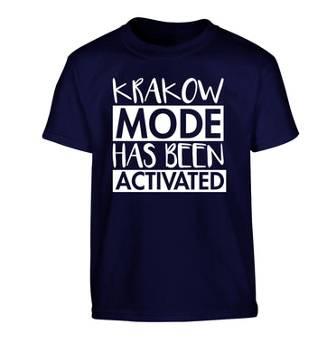 Krakow mode has been activated Children's navy Tshirt 12-13 Years