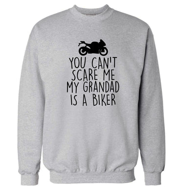 You can't scare me my grandad is a biker Adult's unisex grey Sweater 2XL
