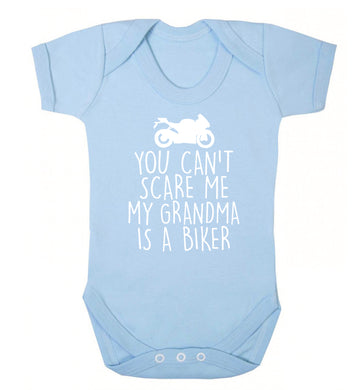 You can't scare me my grandma is a biker Baby Vest pale blue 18-24 months