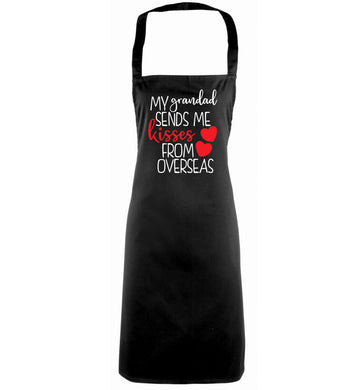 My Grandad sends me kisses from overseas black apron