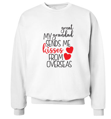 My great grandad sends me kisses from overseas Adult's unisex white Sweater 2XL