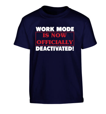 Work mode is now officially deactivated Children's navy Tshirt 12-13 Years