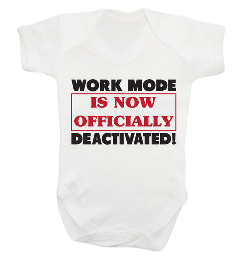 Work mode is now officially deactivated Baby Vest white 18-24 months