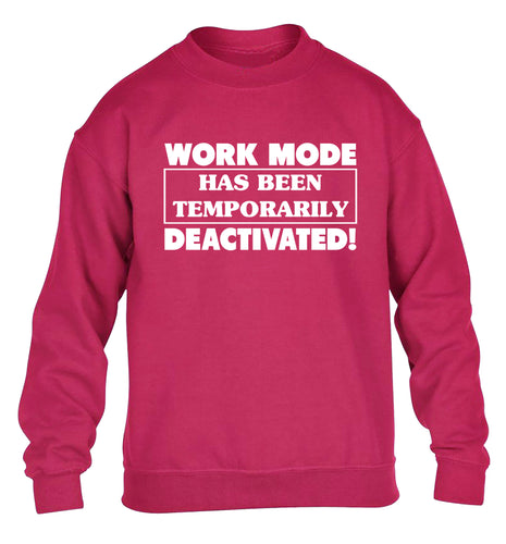 Work mode has now been temporarily deactivated children's pink sweater 12-13 Years