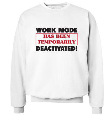 Work mode has now been temporarily deactivated Adult's unisex white Sweater 2XL