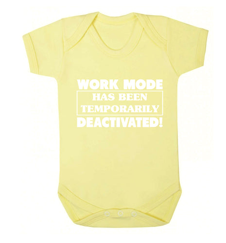Work mode has now been temporarily deactivated Baby Vest pale yellow 18-24 months