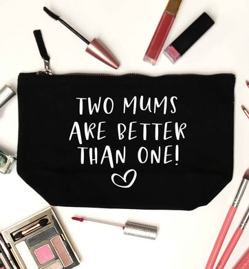 Two mums are better than one black makeup bag