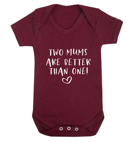 Two mums are better than one baby vest maroon 18-24 months
