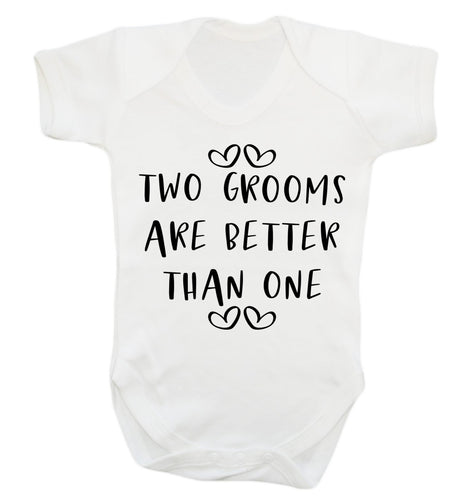Two grooms are better than one baby vest white 18-24 months