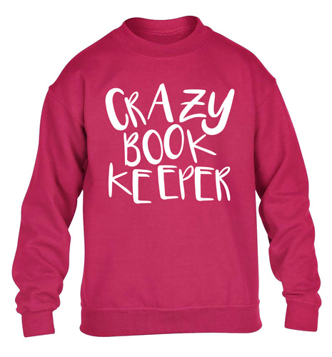 Crazy bookkeeper children's pink sweater 12-13 Years