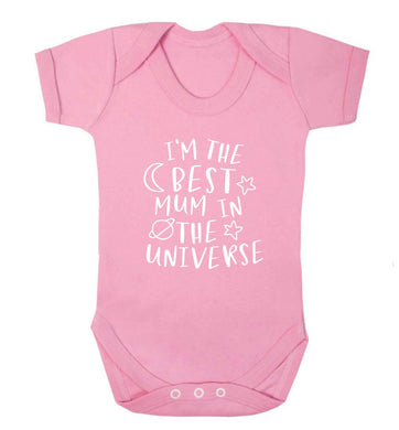 I'm the best mum in the universe baby vest pale pink 18-24 months