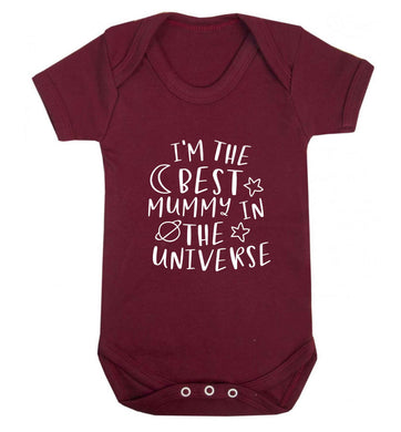 I'm the best mummy in the universe baby vest maroon 18-24 months
