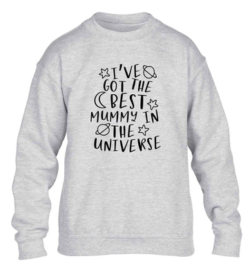 I've got the best mummy in the universe children's grey sweater 12-13 Years