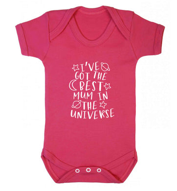 I've got the best mum in the universe baby vest dark pink 18-24 months