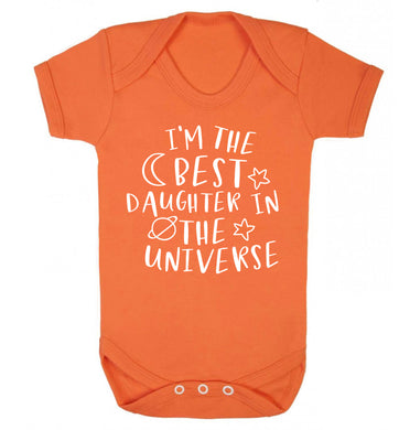 I'm the best daughter in the universe Baby Vest orange 18-24 months