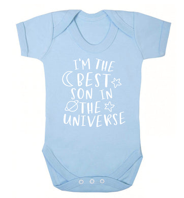 I'm the best son in the universe Baby Vest pale blue 18-24 months