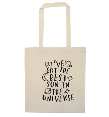 I've got the best son in the universe natural tote bag