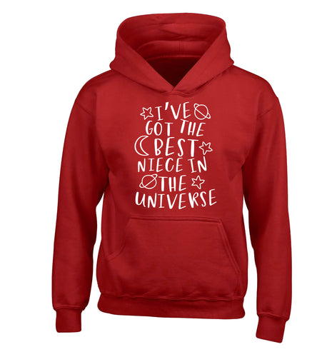 I've got the best niece in the universe children's red hoodie 12-13 Years