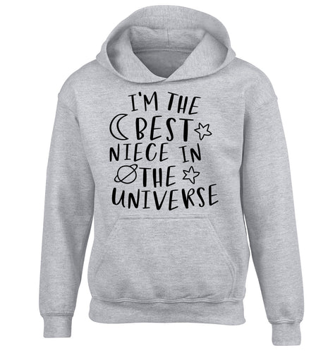 I'm the best niece in the universe children's grey hoodie 12-13 Years
