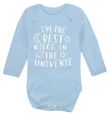 I'm the best niece in the universe Baby Vest long sleeved pale blue 6-12 months