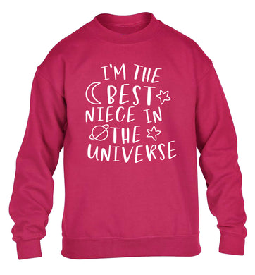 I'm the best niece in the universe children's pink sweater 12-13 Years
