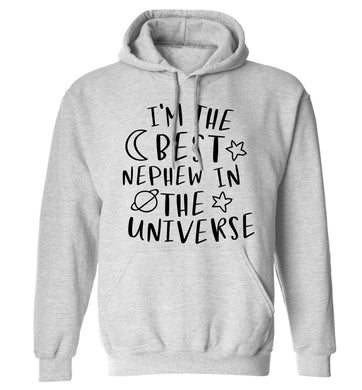 I'm the best nephew in the universe adults unisex grey hoodie 2XL