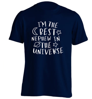 I'm the best nephew in the universe adults unisex navy Tshirt 2XL
