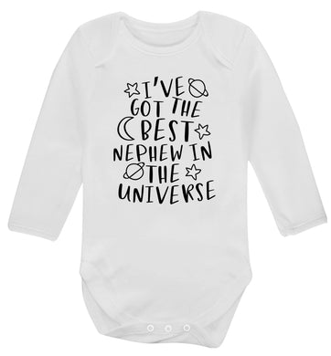 I've got the best nephew in the universe Baby Vest long sleeved white 6-12 months