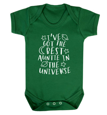 I've got the best auntie in the universe Baby Vest green 18-24 months