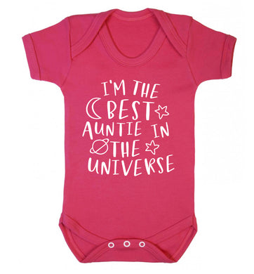 I'm the best auntie in the universe Baby Vest dark pink 18-24 months